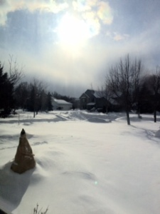 bright sun and bright snow makes me want to hibernate